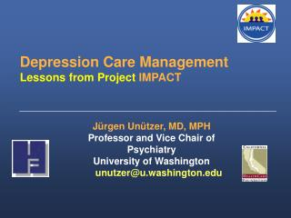 Depression Care Management Lessons from Project  IMPACT