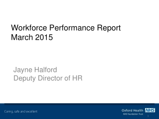 Workforce Performance Report March 2015
