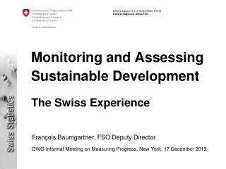 Monitoring and Assessing Sustainable Development