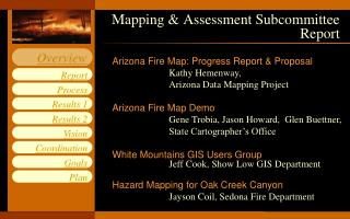 Mapping & Assessment Subcommittee Report