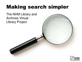 Making search simpler
