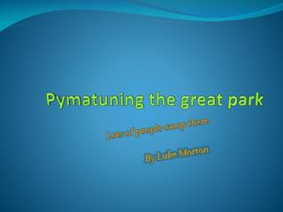 Pymatuning the great park