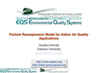 Particle Resuspension Model for Indoor Air Quality Applications