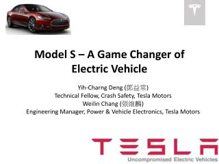 Model S – A Game Changer of Electric Vehicle