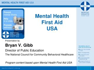 Mental Health  First Aid  USA
