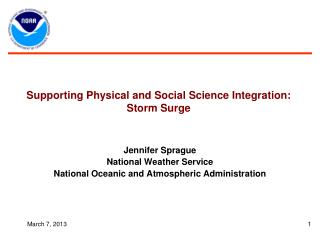 Supporting  Physical  and Social  Science  Integration: Storm Surge