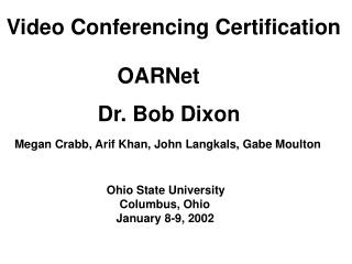 Video Conferencing Certification