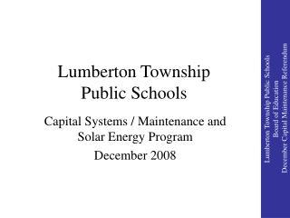 Lumberton Township Public Schools