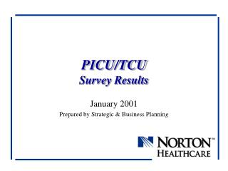 PICU/TCU Survey Results