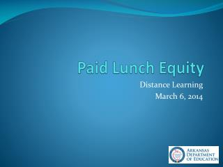 Paid Lunch Equity