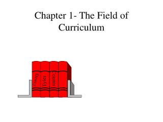 Chapter 1- The Field of Curriculum