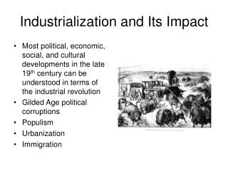 Industrialization and Its Impact