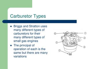 Carburetor Types