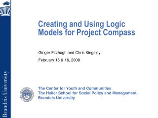 Creating and Using Logic Models for Project Compass