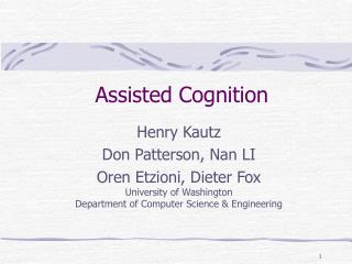 Assisted Cognition
