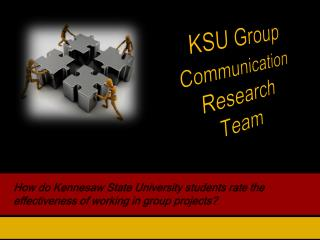 How do Kennesaw State University students rate the effectiveness of working in group projects?