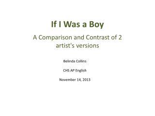 If I Was a Boy