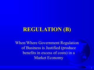 REGULATION (B)