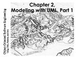 Chapter 2, Modeling with UML, Part 1