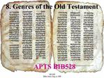 8. Genres of the Old Testament