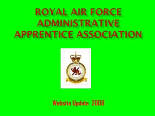 Royal air force Administrative apprentice Association
