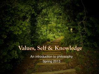Values, Self & Knowledge