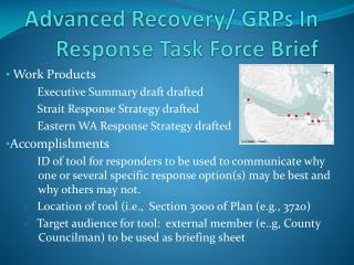 Advanced Recovery/ GRPs In Response Task Force Brief