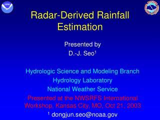 Radar-Derived Rainfall Estimation