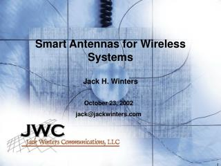 Smart Antennas for Wireless Systems