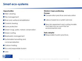 Smart eco-systems