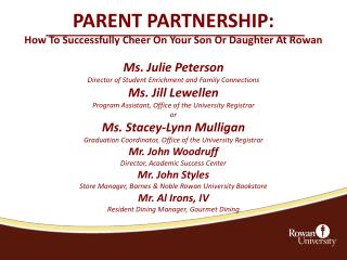 PARENT PARTNERSHIP: How To Successfully Cheer On Your Son Or Daughter At Rowan