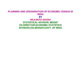 ECONOMIC CENSUS--AN ATTEMPT TO PROVIDE A  FRAME OF ESTABLISHMENTS
