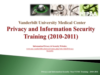 Protected Health Information: HIPAA and VUMC Policy