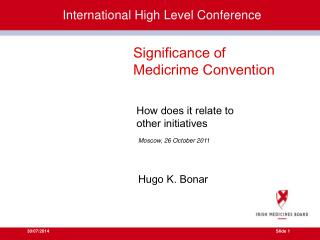 International High Level Conference