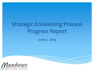 Strategic Envisioning Process Progress Report