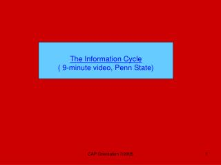 The Information Cycle ( 9-minute video, Penn State)