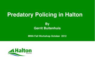 Predatory Policing in Halton
