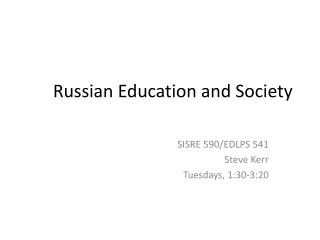 Russian Education and Society