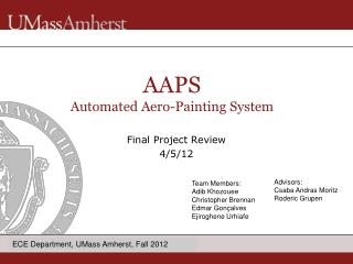 Final Project Review 4/5/12