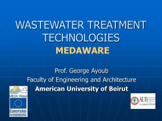 WASTEWATER TREATMENT TECHNOLOGIES MEDAWARE