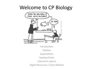 Welcome to CP Biology