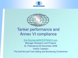 Tanker  performance and  Annex VI compliance
