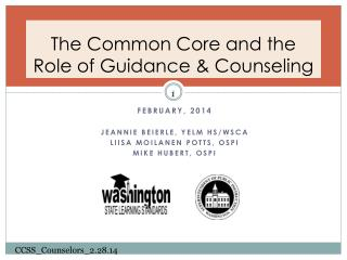 The Common Core and the Role of Guidance & Counseling