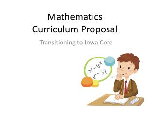 Mathematics  Curriculum Proposal