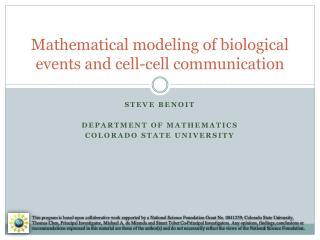 Mathematical modeling of biological events and cell-cell communication