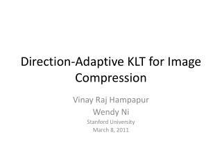 Direction-Adaptive KLT for Image Compression