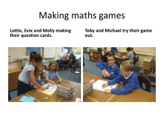 Making maths games