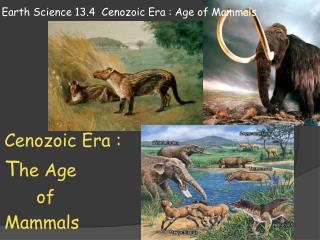 Earth Science 13.4  Cenozoic Era : Age of Mammals