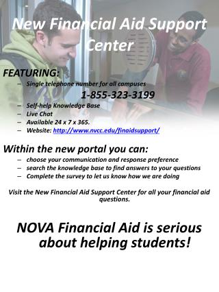 New Financial Aid Support Center
