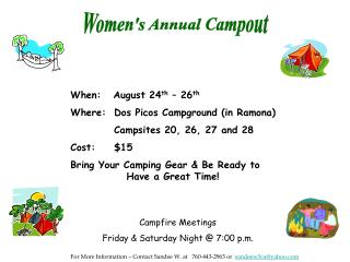 Women's Annual Campout